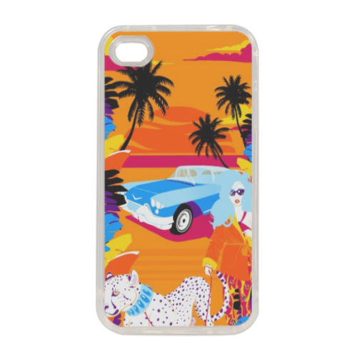 Rich Summer  Cover in silicone iPhone 4-4s