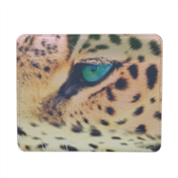 Leopard Mousepad in pelle