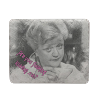 Disegno kidding me Mousepad in pelle