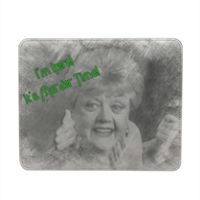 Disegno Murder Time Mousepad in pelle