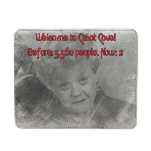 Welcome to Cabot Cove Mousepad in pelle