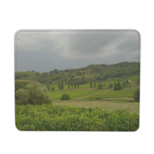 Temporale in Toscana Mousepad in pelle