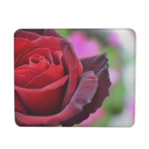 gocce su rose Mousepad in pelle