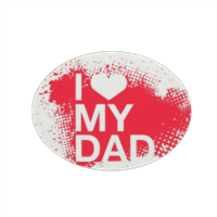 I Love My Dad - Magnete ovale grande