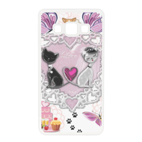 Sweet Love with Dog Cover in silicone Samsung A5