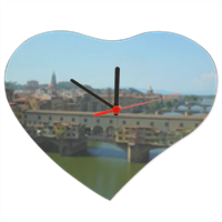 Firenze Orologio cuore in masonite grande