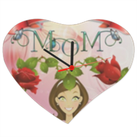 Best Mom Orologio cuore in masonite grande