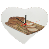 Bread Orologio cuore in masonite grande