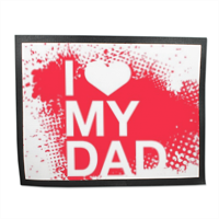 I Love My Dad - Tappeto in gomma 110x85 cm