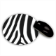 Zebra African Tappetino Mouse Tondo