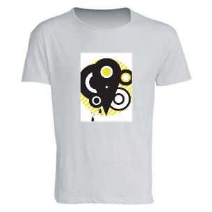 T-shirt Uomo in Cotone Fiammato