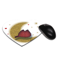KAT AND MOON Tappetino Mouse Cuore