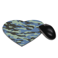 Blue camouflage  Tappetino Mouse Cuore
