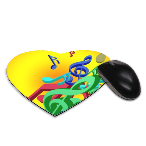 Musica Tappetino Mouse Cuore
