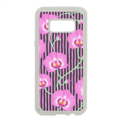 orchidee Cover in silicone Samsung S8