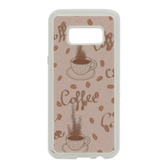 coffee Cover in silicone Samsung S8