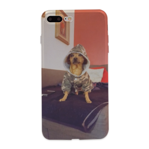 Cane con il piumino Cover trasparente iPhone 8 Plus