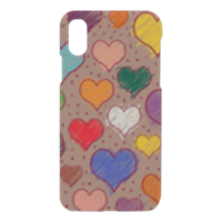 cuoricini Cover iPhone X 3D