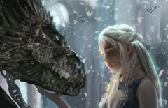 Daeneyrs with Dragon