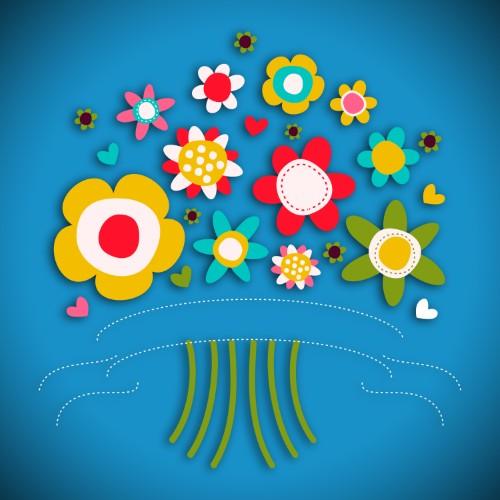 Calamite con fiori